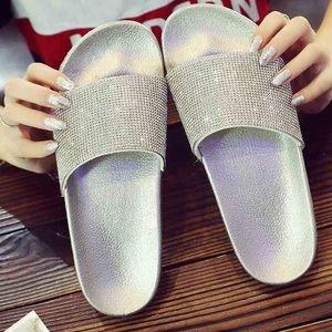 Rhinestone Glitter Slide Slip On Sandals